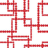 Vector seamless pattern. Squares from red balls Stock Photo
