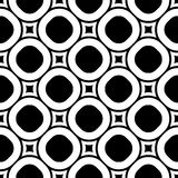 Vector seamless pattern, staggered monochrome texture Stock Photography