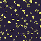 Vector seamless pattern with stars Royalty Free Stock Photography