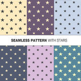 Vector seamless pattern with stars Stock Photos