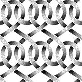 Vector seamless pattern of stippled ribbons Royalty Free Stock Photo
