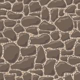Vector seamless pattern of stones stock photo