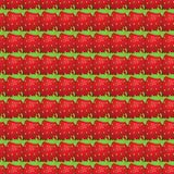 Vector seamless pattern of  strawberry Royalty Free Stock Photo