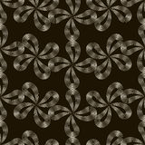 Vector seamless pattern. Stylish repeating texture. Floral monoc Stock Photography