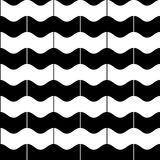 Vector seamless pattern. Stylish texture with wavy dotted stripes. Royalty Free Stock Photos