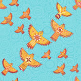 Vector seamless pattern with stylized birds. Stock Photos