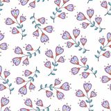 Vector seamless pattern with stylized flowers. Background for design and decoration Stock Photography