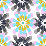 Vector seamless pattern, stylized flowers Royalty Free Stock Photography