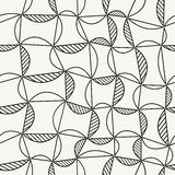 Vector seamless pattern with stylized leaf. Modern repeating texture. Fancy vector print Royalty Free Illustration