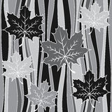 Vector seamless pattern. Stylized leaves on background. Stock Image