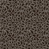 Vector seamless pattern of stylized leaves and petals Stock Photos