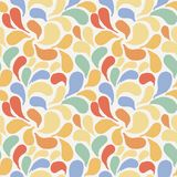 Vector seamless pattern of stylized leaves and petals Royalty Free Stock Photos