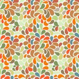 Vector seamless pattern of stylized leaves and petals Stock Images