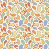 Vector seamless pattern of stylized leaves and petals Stock Image