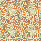 Vector seamless pattern of stylized leaves and petals Royalty Free Stock Images