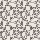 Vector seamless pattern of stylized petals Stock Photos