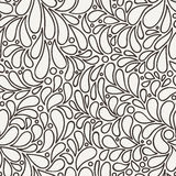 Vector seamless pattern of stylized petals Royalty Free Stock Photos