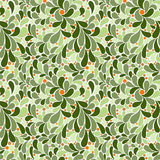 Vector seamless pattern of stylized petals Royalty Free Stock Images