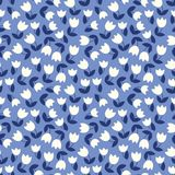 Vector seamless pattern with stylized small flowers Stock Images