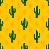 Vector seamless pattern with succulent cactus. Royalty Free Stock Photos