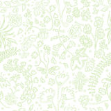 Vector seamless pattern with summer flowers Stock Photography
