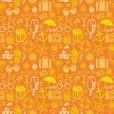 Vector seamless pattern with summer icons Stock Photography