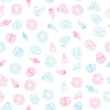 Vector seamless pattern of sweets dessert on white background. Vector seamless pattern of color sweets dessert on white background Stock Photography