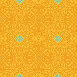 Vector seamless pattern with swirls and floral motifs in retro style. Victorian background of bright modern color. It can be used for wallpaper, pattern fills Stock Photos