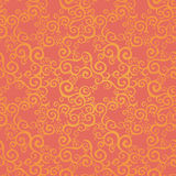 Vector seamless pattern with swirls motifs. Bright scroll work background. It can be used for wallpaper, pattern fills, web page background, surface textures Royalty Free Stock Photo
