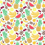 Vector seamless pattern of tastes Stock Images