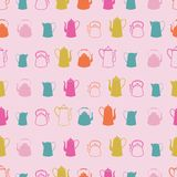 Tea Party Seamless Pattern royalty free illustration