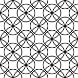 Vector seamless pattern, texture with balls. Vector seamless pattern, simple monochrome black & white geometric texture, illustration on balls, fans. Endless vector illustration