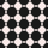 Vector seamless pattern, texture with flat floral silhouettes Stock Photography