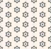 Vector seamless pattern, texture with hexagons, snowflakes Royalty Free Stock Image