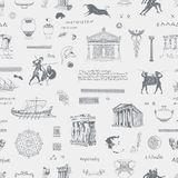 Seamless pattern on the theme of ancient Greece. Vector seamless pattern on the theme of ancient Greece. Wallpaper, wrapping paper or fabric with hand drawn stock illustration