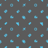 Vector. Seamless pattern. Theme: business, travel. Can be used for cards, web background, wrapping paper, shopping bags, covers an Stock Images