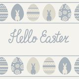 Vector seamless pattern on the theme of Easter and spring. Cartoon illustration stock illustration