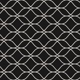 Vector seamless pattern, thin wavy lines, subtle mesh texture. Vector seamless pattern, thin wavy lines. Dark texture of mesh, lace, weaving, smooth lattice Royalty Free Stock Images