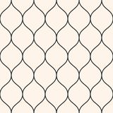Vector seamless pattern, thin wavy lines. Vertical mesh texture. Vector seamless pattern, thin wavy lines. Texture of mesh, fishnet, lace, weaving, smooth grid Royalty Free Stock Images