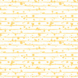 Vector seamless pattern, tile with inc splash, blots, smudge and brush strokes, lines. Grunge endless template for web background, Stock Photos