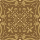 Vector seamless pattern tiling with arabesque Royalty Free Stock Images
