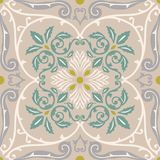 Vector seamless pattern tiling with arabesque Royalty Free Stock Photography
