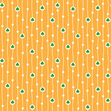 Vector seamless pattern with tiny shamrocks Stock Photo