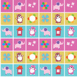 Vector seamless pattern toys Stock Images