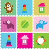 Vector seamless pattern toys Royalty Free Stock Image