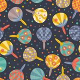 Vector seamless pattern with  traditional  Japanese Fans Uchiwa. All objects are conveniently grouped and easily editable Royalty Free Stock Photography