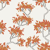 Vector seamless pattern of tree branches with Stock Photography