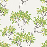 Vector seamless pattern of tree branches with Stock Photos