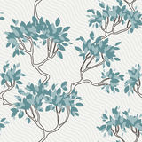 Vector seamless pattern of tree branches with Royalty Free Stock Image