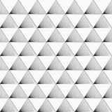 Vector seamless pattern. Triangles with inclined lines inside. Regular abstract linear grid Royalty Free Stock Photography